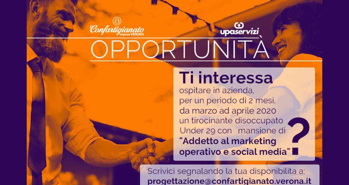 ricerca imprese per tirocinio in azienda disoccupati su social media marketing